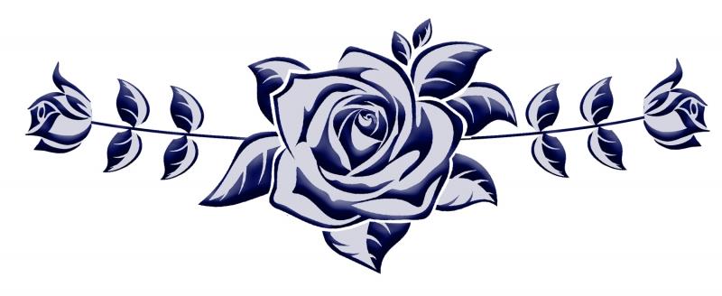 Douwe Bob Geïnspireerde Tattoo Blauw Ingekleurd
