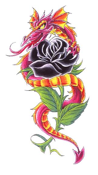 Draak met Zwarte Roos