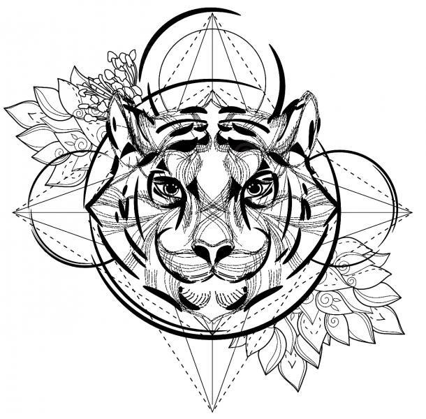Geometrische Tattoos Faketattoonl