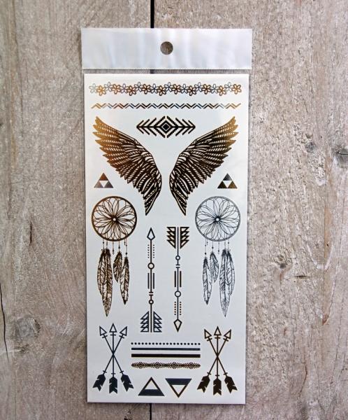 Gouden Tattoos Set 24 (10x21 cm)