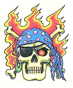 Skull Piraat Vlammen