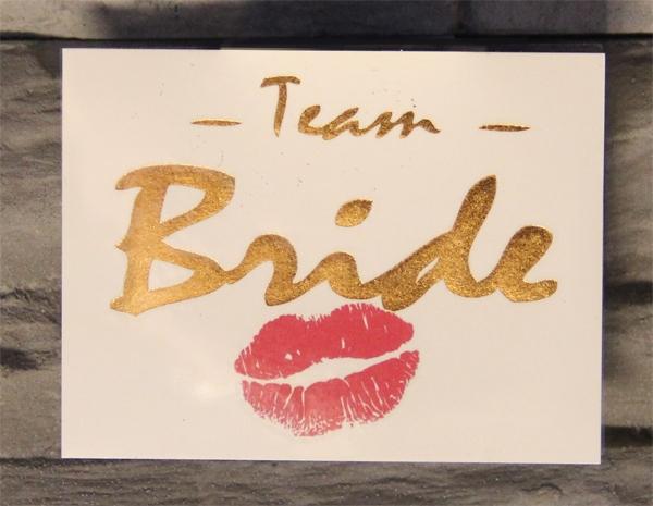 Team Bride Goud 1