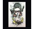 XL Tattoos Vrouwfiguren kleur tattoo voorbeeld Vrouw 003