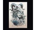 XL Tattoos Zwartwit tattoo voorbeeld Vrouw 014
