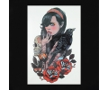 XL Tattoos Vrouwfiguren kleur tattoo voorbeeld Vrouw 020