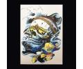 XL Tattoos Boosaardig kleur tattoo voorbeeld Boosaardig 048