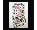 XL Tattoos Dieren kleur tattoo voorbeeld Schouder Tattoo 072