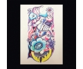 XL Tattoos Kleur tattoo voorbeeld Schouder Tattoo 075 Kindertekening