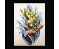 XL Tattoos Kleur tattoo voorbeeld Bloemen 079 Gele Lotus