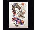 XL Tattoos Vrouwfiguren kleur tattoo voorbeeld Vrouw 082 Geisha met Waaier