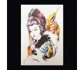 XL Tattoos Vrouwfiguren kleur tattoo voorbeeld Vrouw 084 Geisha met Slang