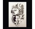 XL Tattoos symbolen zwart/wit tattoo voorbeeld Symbolen 093 Buddha en Lotusbloem