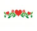 Liefde / Valentijn tattoo voorbeeld Bloemen & Hartjes