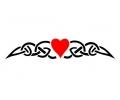 Hartjes tattoo voorbeeld Tribal hartje 1-26