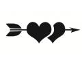 Liefde / Valentijn tattoo voorbeeld Hartjes pijl