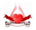 Liefde / Valentijn tattoo voorbeeld Hartje groot 7