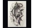 XL Tattoos Zwartwit tattoo voorbeeld Dieren 100 Koi Karper Grijstinten