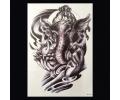 XL Tattoos Zwartwit tattoo voorbeeld Symbolen 103 Olifant met Henna