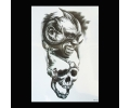 XL Tattoos Zwartwit tattoo voorbeeld Boosaardig 106 Demon en Skull