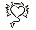 Liefde / Valentijn tattoo voorbeeld Hartje duivel