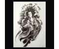 XL Tattoos Vrouwfiguren zwart/wit tattoo voorbeeld Vrouw 114 Geisha