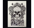 XL Tattoos Boosaardig zwart/wit tattoo voorbeeld Boosaardig 128 Skull met Horens
