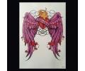 XL Tattoos Kleur tattoo voorbeeld Symbolen 149 Hart met Vleugels