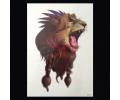 XL Tattoos Kleur tattoo voorbeeld Dieren 152 Leeuw
