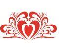 Liefde / Valentijn tattoo voorbeeld Hartje kunst