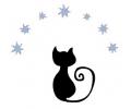 Overige dieren tattoo voorbeeld kat met sterretjes
