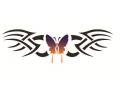 Vlinders tattoo voorbeeld Vlinder tribal