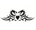 Liefde / Valentijn tattoo voorbeeld Hartje draken