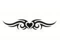 Liefde / Valentijn tattoo voorbeeld Hartje tribal 3