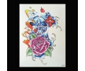 XL Tattoos Kleur tattoo voorbeeld Bloemen 239