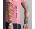Tattoo sleeves armen tattoo voorbeeld Tattoo Sleeve 31 - Dobbelsteen Ride