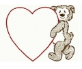 Liefde / Valentijn tattoo voorbeeld Hartje met Beer