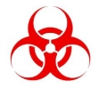 Nuclear tattoo voorbeeld Biohazard rood