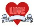Liefde / Valentijn tattoo voorbeeld Hartje 6