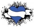 Liefde / Valentijn tattoo voorbeeld Hartje blauw