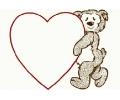 Liefde / Valentijn tattoo voorbeeld Hartje met Beer groot