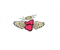 Liefde / Valentijn tattoo voorbeeld Cupido midden