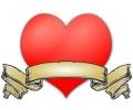 Liefde / Valentijn tattoo voorbeeld Hartje groot 5