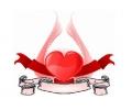 Liefde / Valentijn tattoo voorbeeld Hartje 15