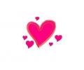 Liefde / Valentijn tattoo voorbeeld Hartje midden 4