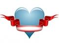 Liefde / Valentijn tattoo voorbeeld Hartje groot 1