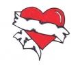 Liefde / Valentijn tattoo voorbeeld Hartje groot 2
