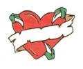 Liefde / Valentijn tattoo voorbeeld Hartje groot 3