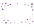 Liefde / Valentijn tattoo voorbeeld Hartjes rand