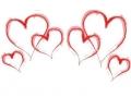 Liefde / Valentijn tattoo voorbeeld Hartjes rand 2