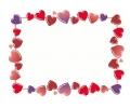 Liefde / Valentijn tattoo voorbeeld Hartjes rand 3